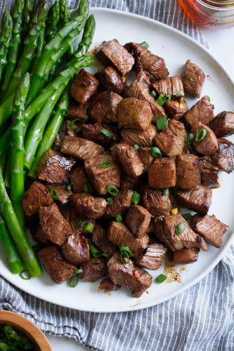 Honey Garlic Steak Bites