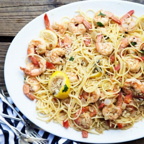 Garlic Lemon Shrimp Scampi