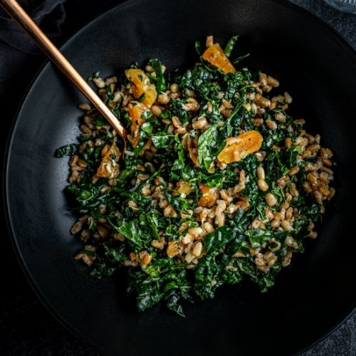 Chopped Kale Salad with Apricots