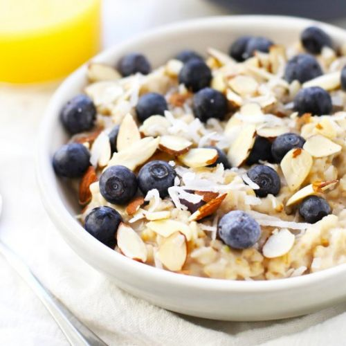 Blueberry Coconut Oatmeal