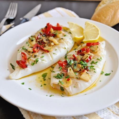 Spanish Style Squid Steaks