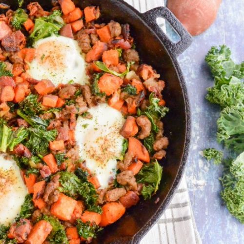 Sweet Potato and Bacon Hash Skillet