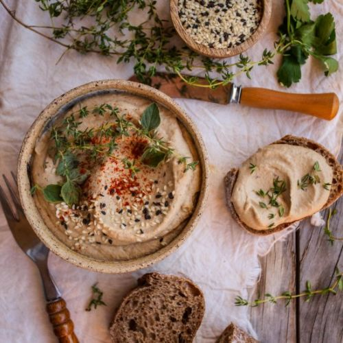Eggplant and butter bean dip