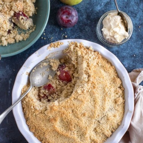 Spiced Plum & Apple Crumble