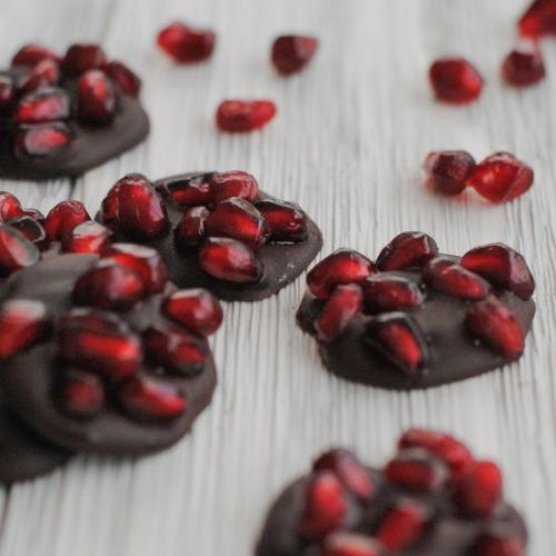 Dark Chocolate Pomegranate Bites