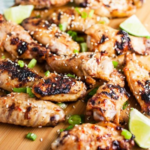 Sweet Spicy Grilled Chicken Wings