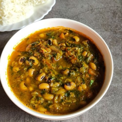 Black eyed peas curry with spinach