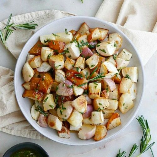 Roasted Turnips and Pears
