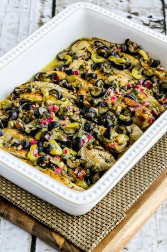 Chicken Bake with Olive and Caper Sauce
