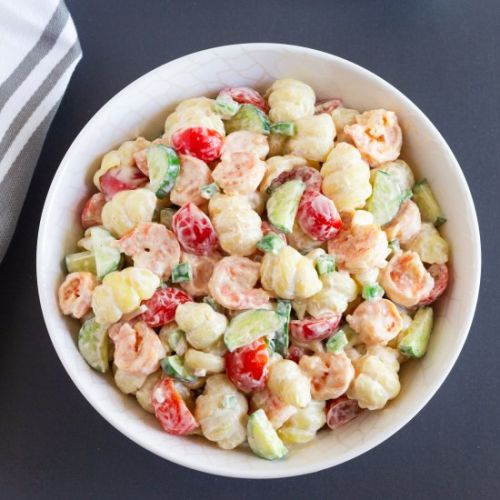 Creamy Shrimp Pasta Salad