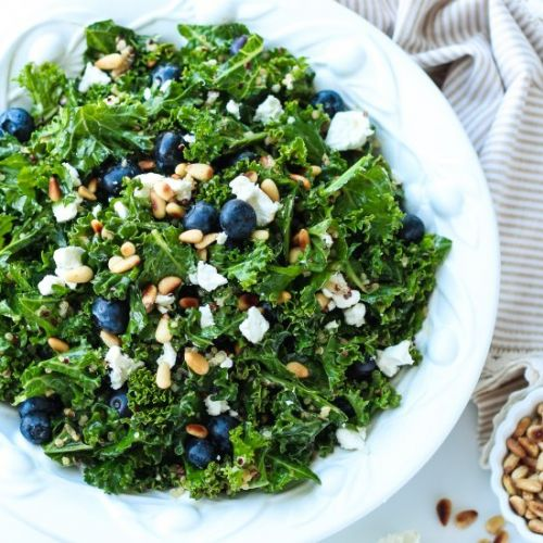 Kale & Blueberry Quinoa Salad