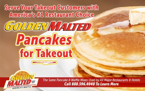 Serve Your Takeout Customers with America's 1 Restaurant Choice - Golden Malted Pancakes