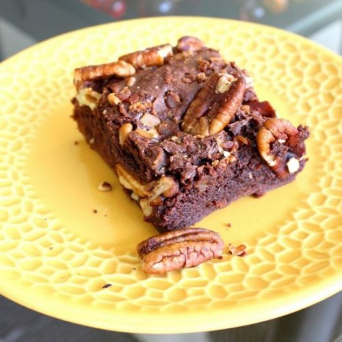 Scotch, Bacon and Pecan Brownies