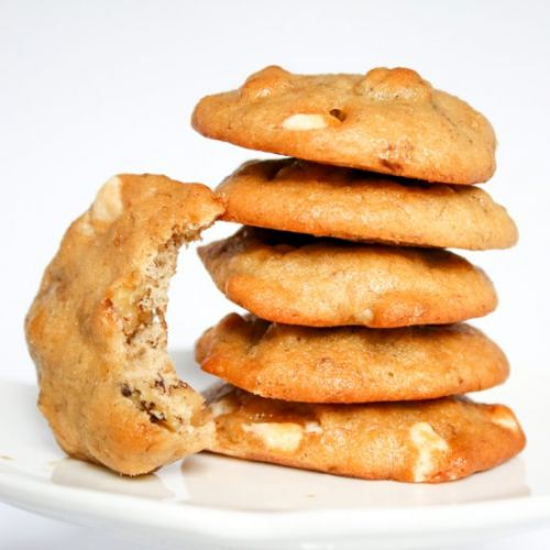 Banana Walnut White Choc Cookies
