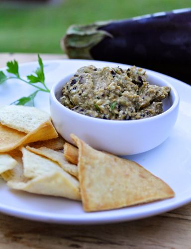 Spicy Eggplant Dip for SundaySupper