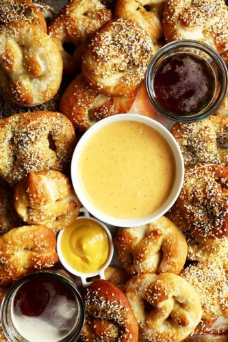 Beer Cheddar Sauce for Pretzels and Other Carbs