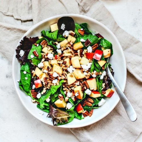 Apple pecan farro salad
