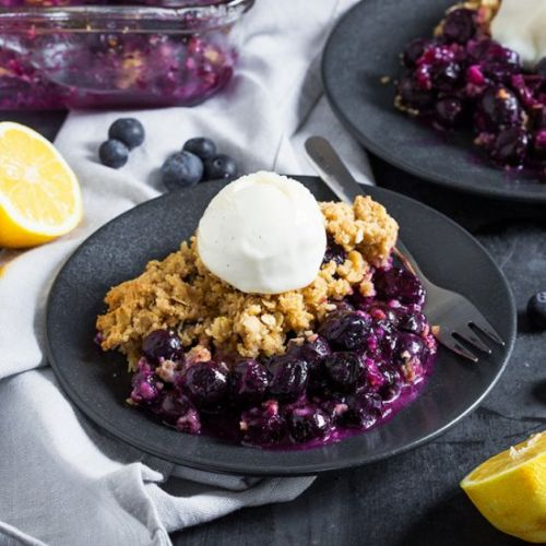 Lemon and Blueberry Crumble