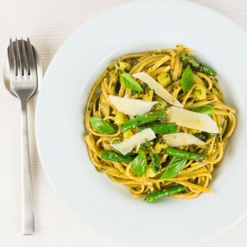 Pesto Pasta with Potatoes