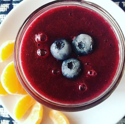 Warm Blueberry Ginger Smoothie A.K.A Divine Immunity Boost Shots