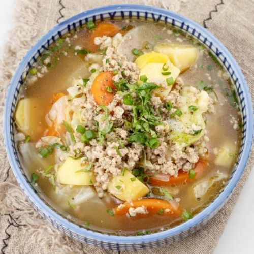 Healthy Asian Cabbage Soup
