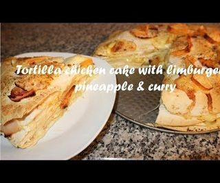Tortilla Chicken Cake With Limburger, Pineapple & Curry Recipe