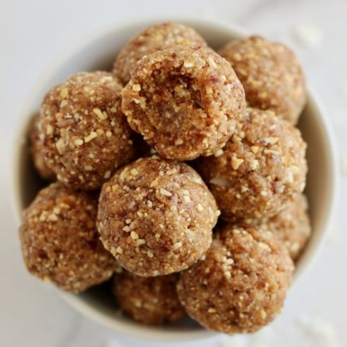 Salted Caramel Protein Energy Bites