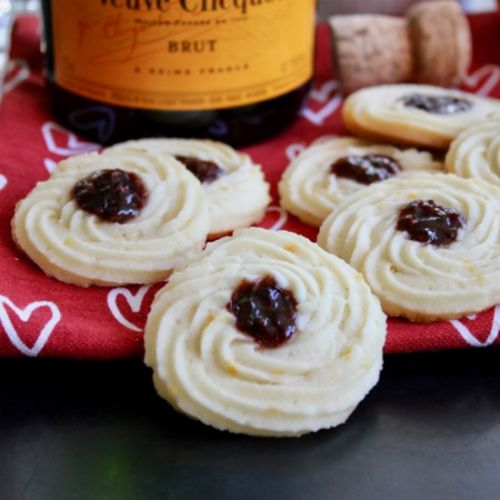 Mimosa Butter Sweetheart Cookies