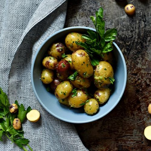 Boiled Potatoes with Pesto
