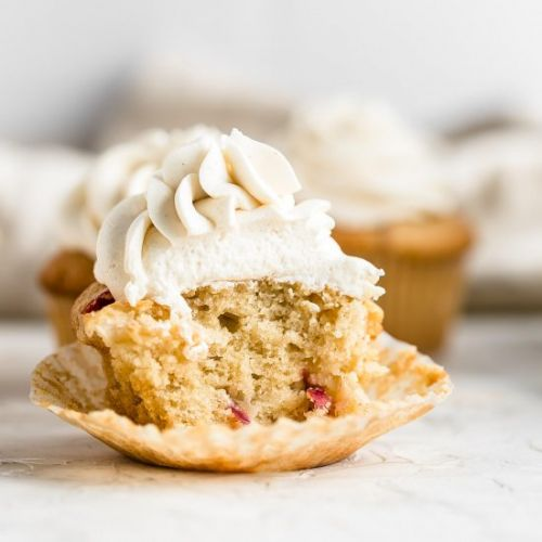 Apple Cupcakes with Maple Frosting