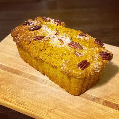 Pumpkin Bread with Cranberries and Pecans
