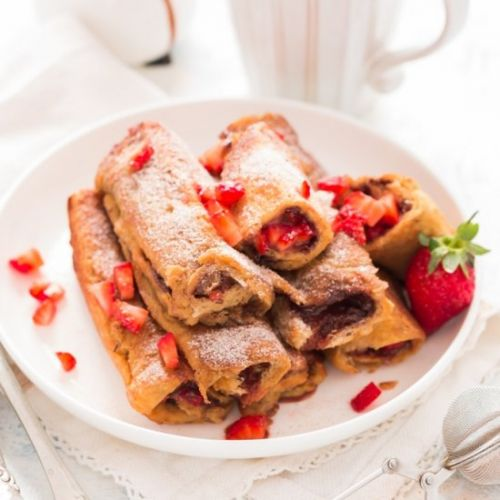 Nutella Strawberry French Toast Rol