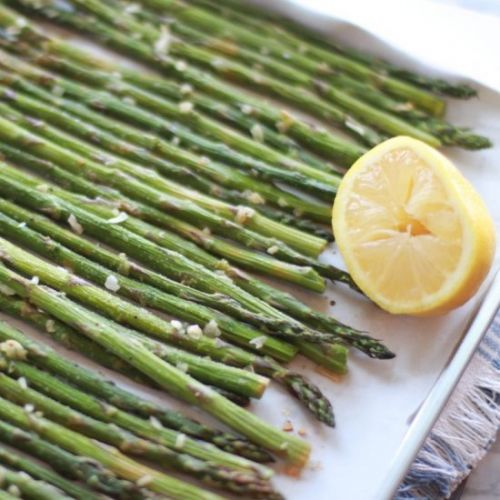 Lemon Garlic Asparagus Spears