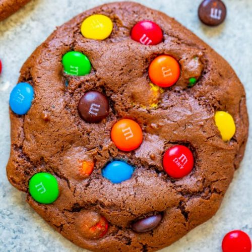 Chocolate Cake Mix M&M Cookies