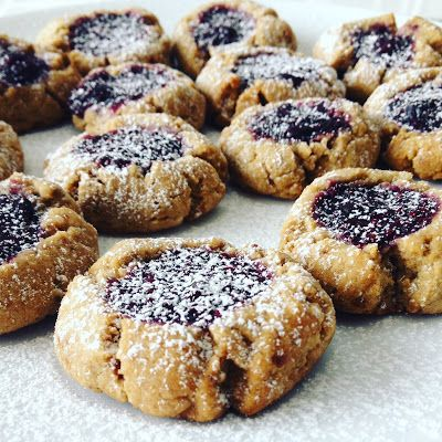 Berry Chia Jam Thumbprint Cookies