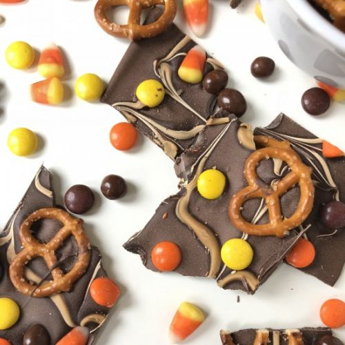 Halloween Chocolate Boo Bark