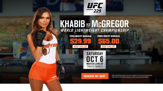Hooters to Show UFC 229