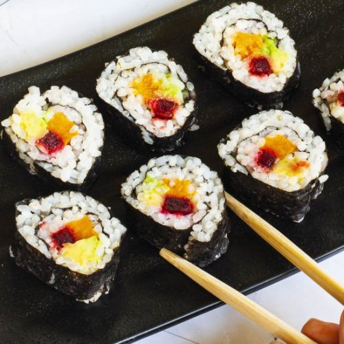 Sweet Potato Sushi Rolls