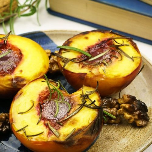 Grilled Peaches with Rosemary