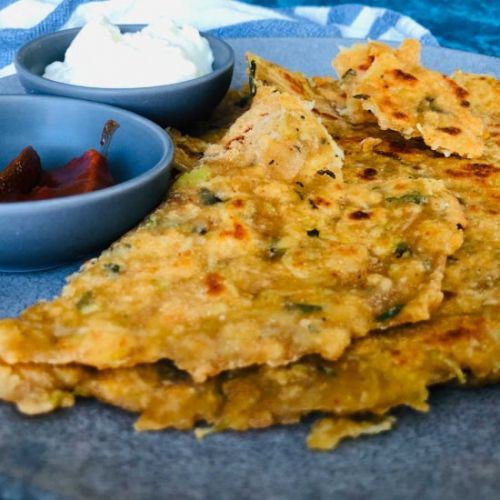 Sourdough bottle gourd paratha
