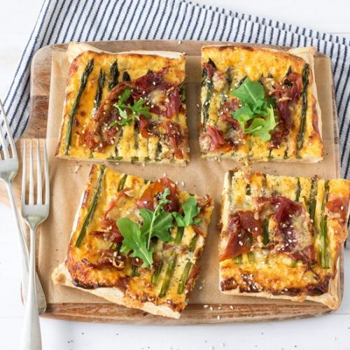 Asparagus and Prosciutto Tart