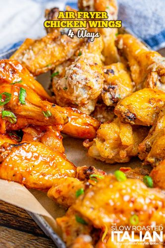 Air Fryer Chicken Wings 4 Ways + Video