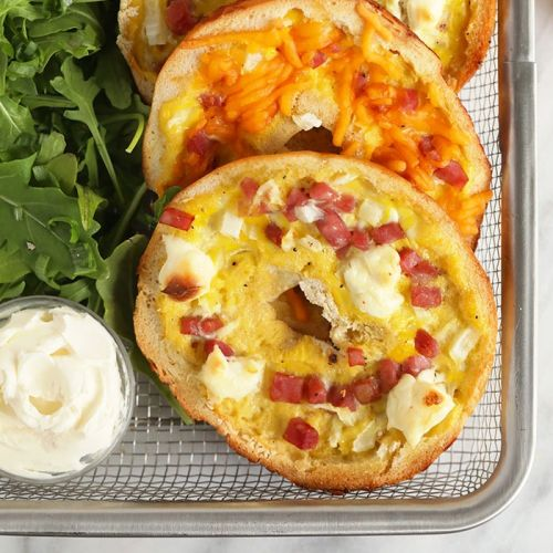 Bagel Ham and Cheese Quiche