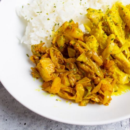 Turmeric-Spiced Braised Cabbage