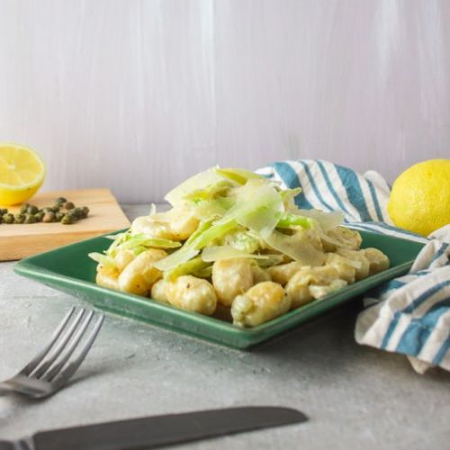 Gnocchi with Fennel Caper Sauce