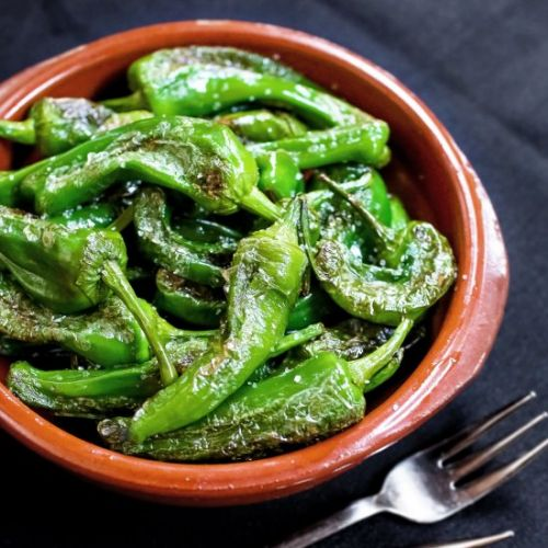 Spanish tapas-style green pepper