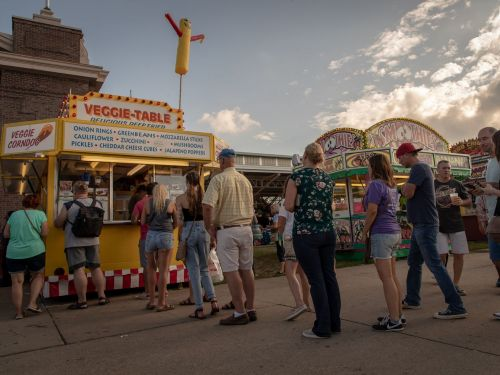 At America's Porkiest State Fair, the Veggie Table Is an Institution