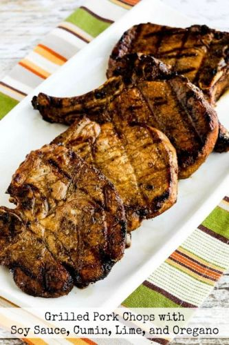 Grilled Pork Chops with Soy Sauce, Cumin, Lime, and Oregano