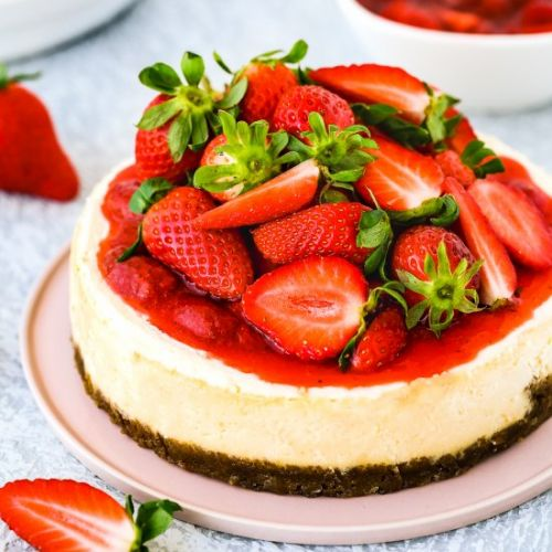 Easy Instant Pot Eggless Cheesecake