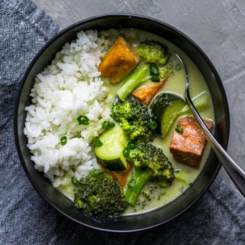 Vegan Thai Green Curry w/ Tofu